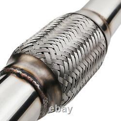 2.25 Stainless De Cat Decat Exhaust Downpipe For Skoda Octavia 1.9 2.0 Tdi 04+