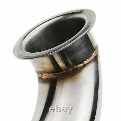 2.25 Stainless Race De Cat Exhaust Decat Downpipe For Audi A3 8p 2.0 Tdi 03-12