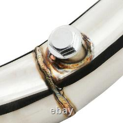 2.5 STAINLESS DE CAT DECAT RACE EXHAUST DOWNPIPE FOR VW GOLF MK5 1.4TSI 168bhp