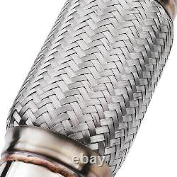 2.5 Stainless Exhaust De Cat Bypass Decat Downpipe For Audi A3 8v 1.8 Tfsi Fwd