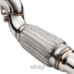 2.5 Stainless Exhaust De Cat Decat Downpipe For Vw Golf Mk7 2.0 1.8 Tfsi Gti