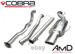 Cobra Sport Astra G GSi Turbo 3.0 Non Resonated Full Exhaust with Decat VZ03D