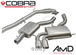 Cobra Sport Audi S3 8P Resonated Full Exhaust System with Decat Resonated AU09c