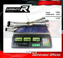 DE-CAT DECAT Cat Eliminator Down Pipe Exhaust DOMINATOR S1000XR S 1000 XR 15-19