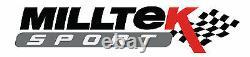Milltek Audi S1 2.0 Quattro 3 Largebore Decat Downpipe Exhaust Removes OE Cat