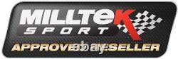 Milltek Audi S3 8P Decat Downpipe Stainless Steel De Cat Exhaust Fits 2.75 Sys