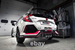 Milltek Civic Type R FK8 Decat Downpipe Exhaust Stainless 3 Removes OE Cat