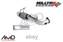 Milltek Focus RS MK3 Decat Largebore Downpipe Fits Milltek Cat Back Only De Cat