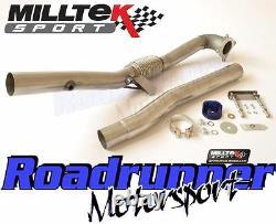 Milltek Golf GTI Decat Downpipe MK5 & MK6 Exhaust Stainless Cast De-Cat SSXAU284