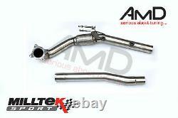 Milltek Mk6 Golf R Downpipe Decat Stainless Steel De-cat Exhaust 3 to 2.75