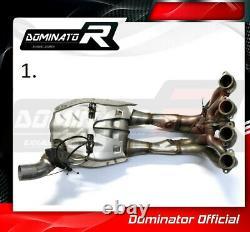S1000R DE-CAT DECAT Cat Eliminator Down Pipe Exhaust Dominator 2014 2015 2016