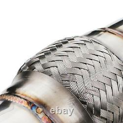 STAINLESS EXHAUST DE CAT DECAT DOWNPIPE FOR BMW 4 SERIES F32 F33 F36 420i 428ix