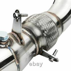 STAINLESS SPORT EXHAUST DE CAT DECAT DOWNPIPE FOR BMW F30 F31 F34 320i 328ix N20