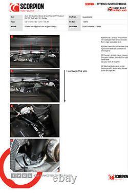 Scorpion De-Cat Downpipe Exhaust 3 Decat Golf R MK7 MK7.5 & Audi S3 8V SVAGC005