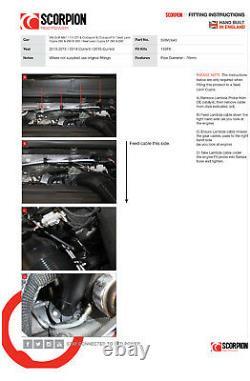 Scorpion Golf GTi MK7 MK7.5 De cat Downpipe Exhaust Decat Leon Cupra 2.0 SVWC043