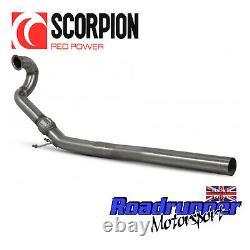 Scorpion Golf R MK7.5 De-Cat Downpipe Exhaust 80mm Decat Removes Cat SVWC054