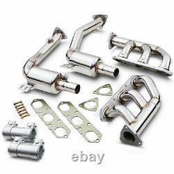 Stainless Exhaust De Cat Bypass Decat Manifold Downpipe For Porsche 986 Boxster