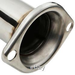 Stainless Steel 2.5 Exhaust De Cat Decat Downpipe For Honda CIVIC Fn2 2.0 Typer